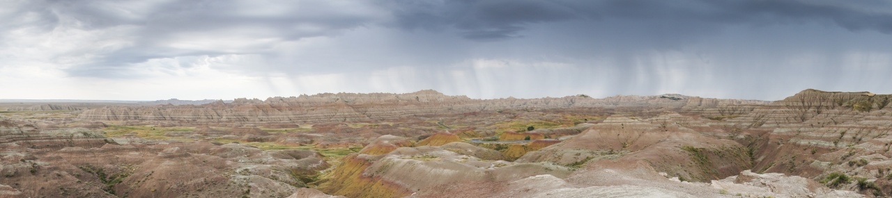 Panorama in Badlands National Park