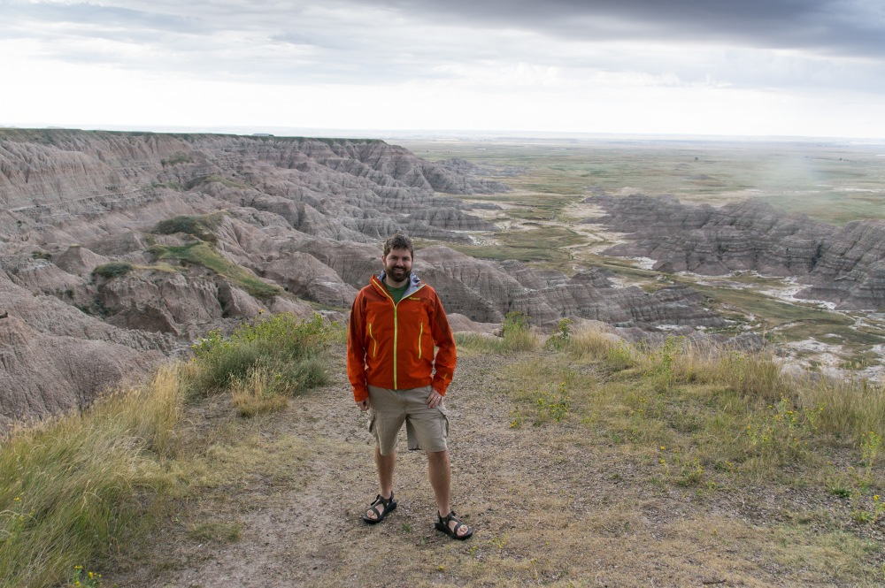 Rob in Badlands National Park