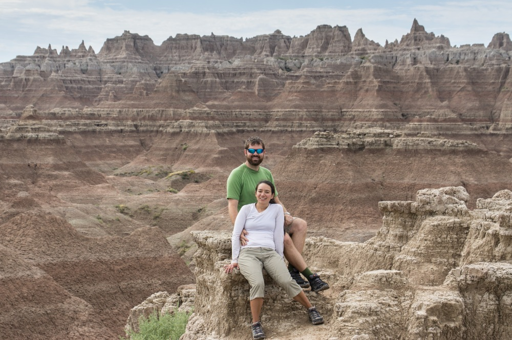 View at the end of the Door Trail in Badlands National Park.