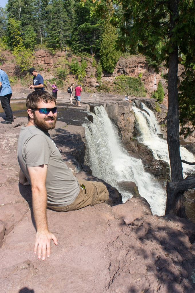 Rob poses with Gooseberry Falls.