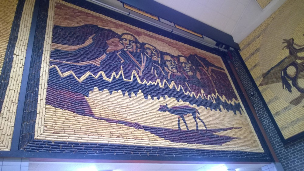 Corn Palace Mural inside the Mitchell Civic Center.