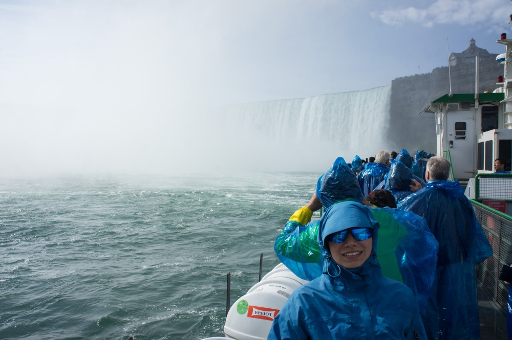 Bundled up for the journey into the falls on Maid of the Mist