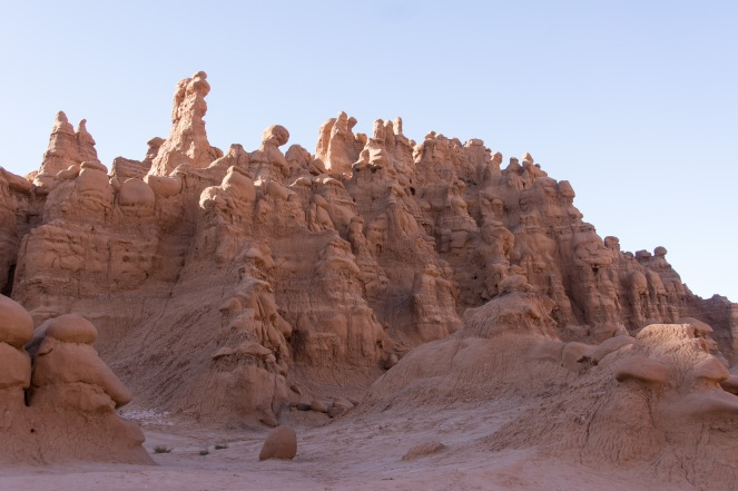 These remind me of kids drip sandcastles. Goblin Valley State Park