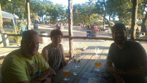 Beers at Jester King with Bob and Kathy