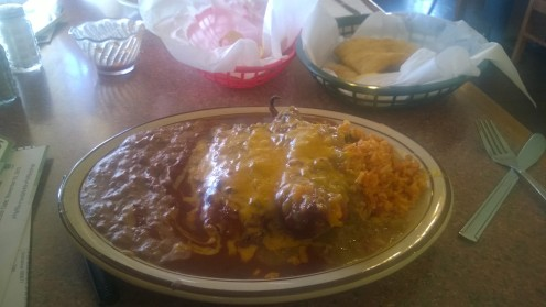 New Mexican Lunch at Perea's.
