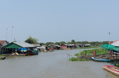 Floating village along the river