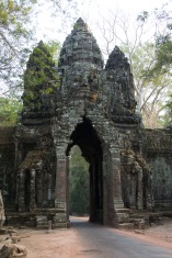 North gate of Angkor Thom. Check out the elephants on either side.