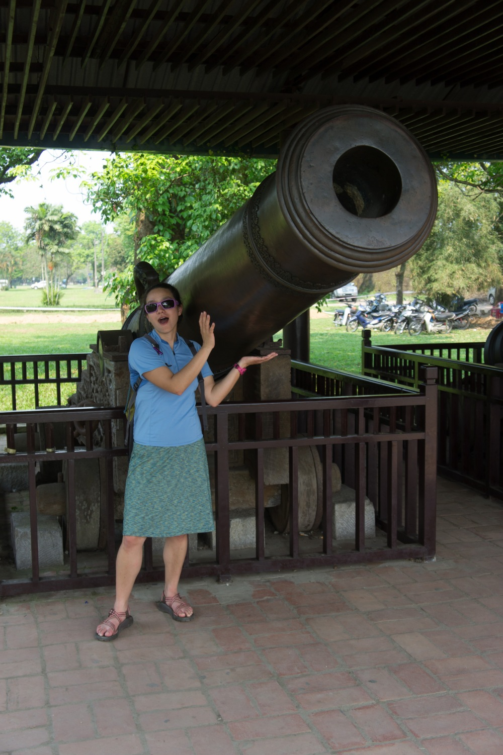Cannon outside the Imperial City in Hue