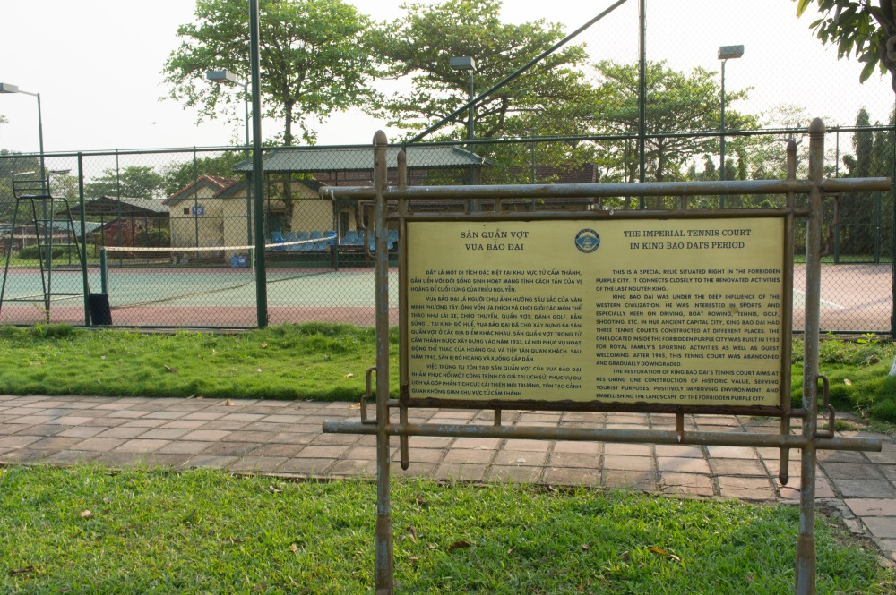 The Immperial Tennis Court in Hue Imperial City