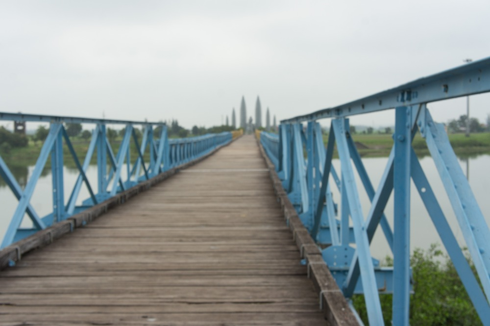 The tourist reconstruction bridge across the Ben Hai River (DMZ)