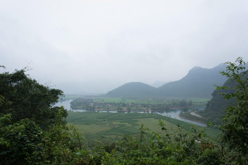 View from the trail to Tien Son Cave.