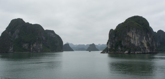 The Tuan Chau ferry is the cheapest Halong Bay cruise option. Our route to Cat Ba was beaturiful.