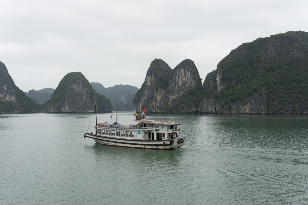 Tour boat in Halong Bay