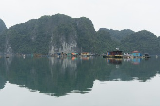 Floating village on Lan Ha Bay.