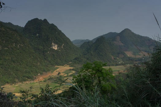 View from the road to Cao Bang. The mountains grew as the day progressed.